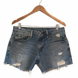levi's 502 | denim cut off shorts